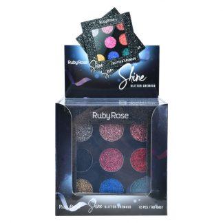 Paleta de Glitter Shine Black HB-8407