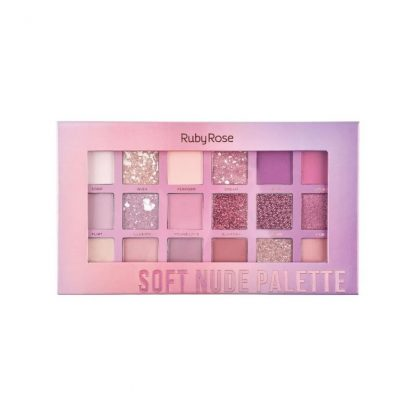 Paleta Soft Nude Feels Ruby Rose HB-1045