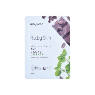 Máscara Facial Cacau Menta Ruby Rose HB-710
